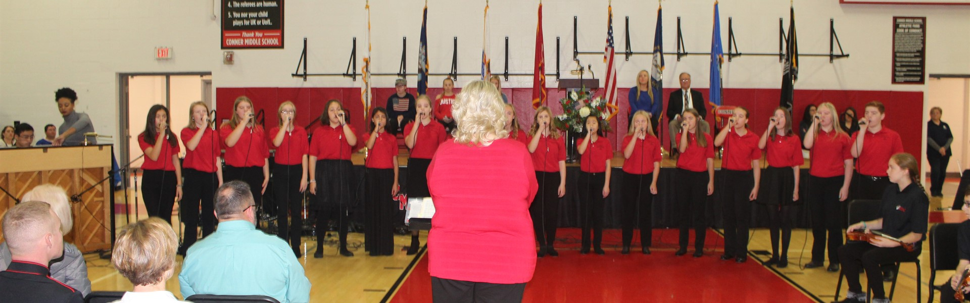 Chorus during Veterans Day