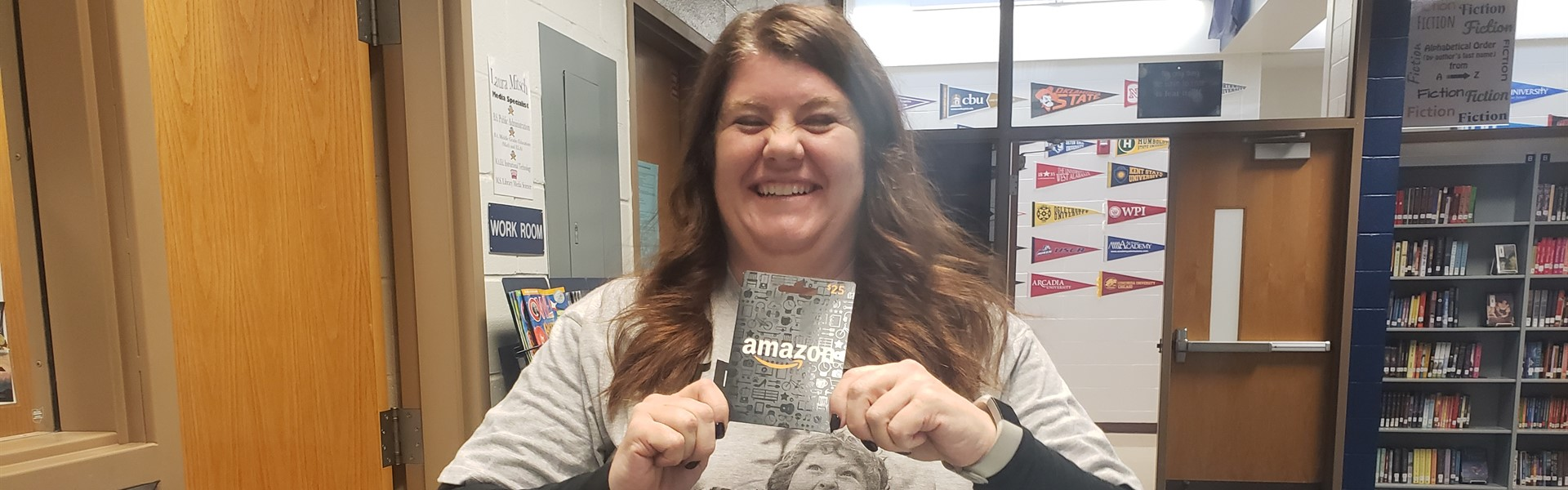 Ms. Ives Book Bingo Teacher Winner