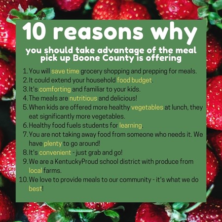 10 reason for meals