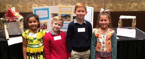 YES students showcasing their PBL Project