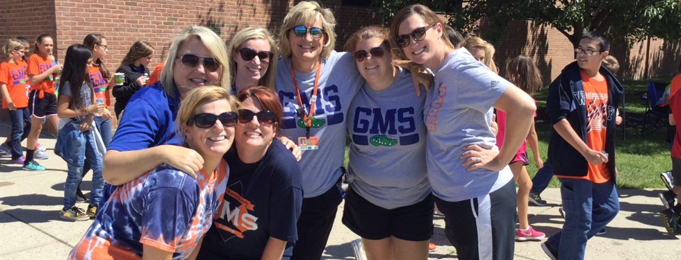 GMS Teachers enjoying the walk-a-thon!