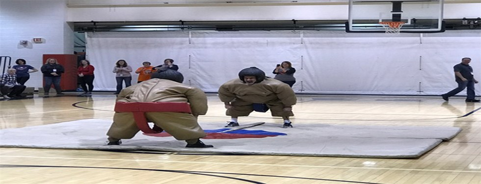 Mr. Novak and Officer Cook Sumo Wrestling!