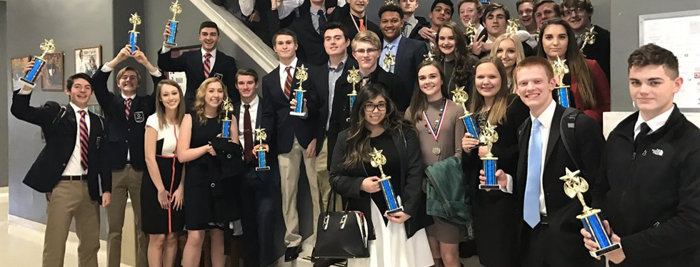 DECA shows off their awards!