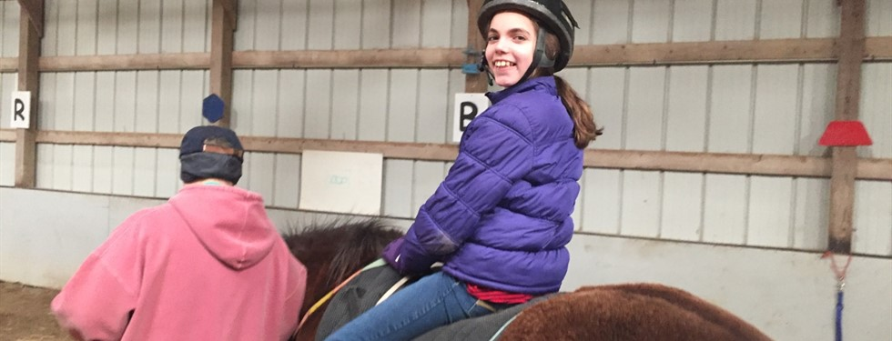 Fun day horse riding.